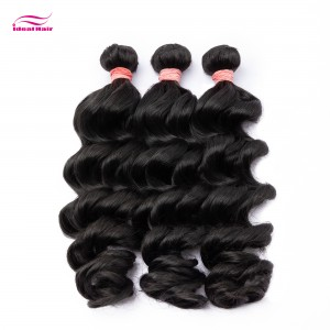 Red Rubber Band Virgin Hair Loose Wave
