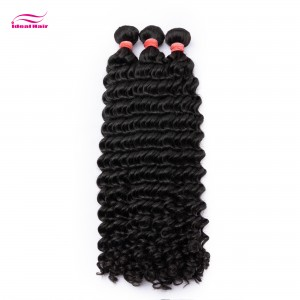 Red Rubber Band Virgin Hair Tiny Curly