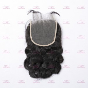 Transparent Lace closure 5X5 loose wave