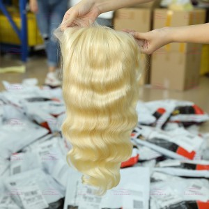 Blonde Transparent Lace Front Wig Body Wave
