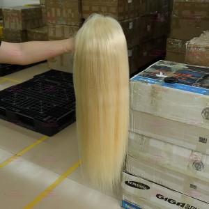 Blonde Transparent Lace Front Wig Straight