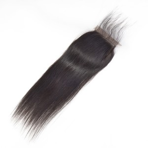 New hair lace closure 4*4 natural straight